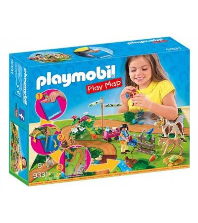 PLAYMOBIL Country Play Map Ponyausflug (9331)